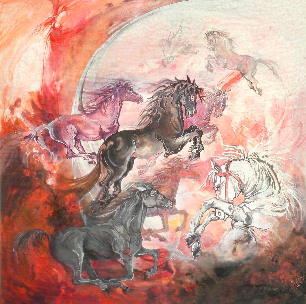 Gabriella malfatti cavalli for Disegni cavalli alati